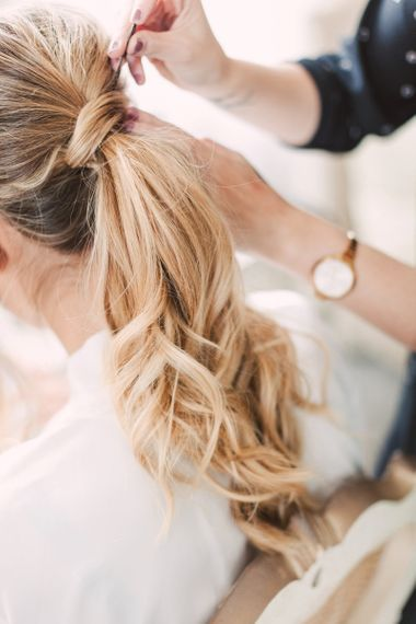 Curly bridal ponytail