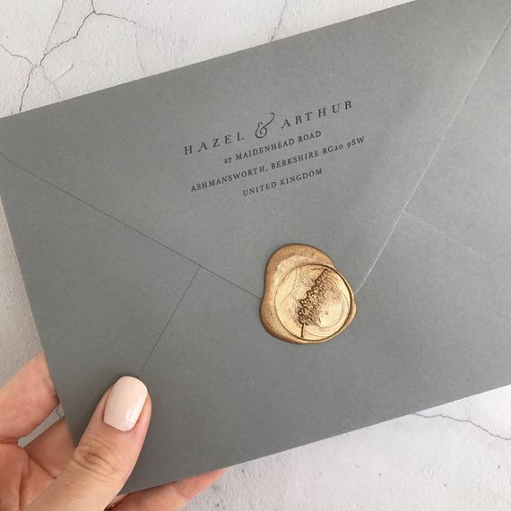 Gold Wax Seal For Wedding Invitations By Heirloom Seals
