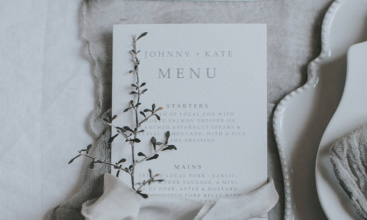 Elegant Menu Card By Lilac & White