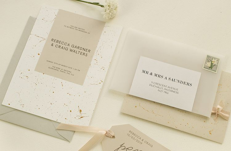 Vellum Wrap For Wedding Invitation By The Noteur Gallery