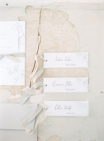 Escort Cards For Wedding Guests From The Tiny Card Company