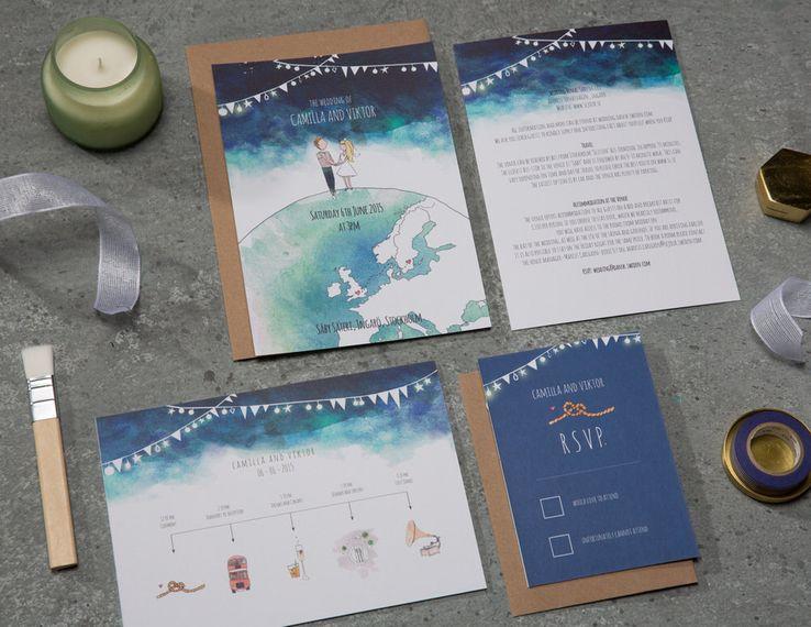 Fig & Fern Studio Hand Illustrated Wedding Stationery
