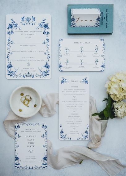 De Winton Paper Co Illustrated Wedding Stationery