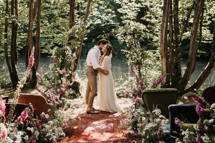 威克伍德农场的可持续林地婚礼