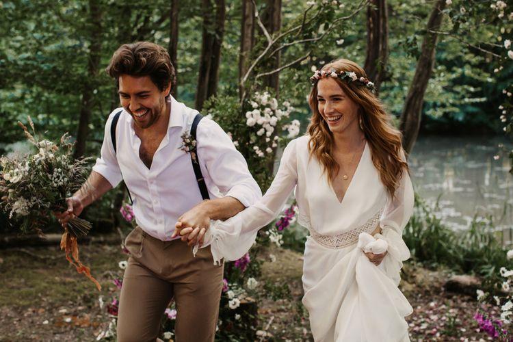 柳木农场的环保森林婚礼