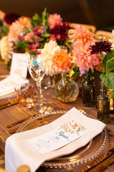 Colourful Dahlia Filled Winter Teepee Wedding