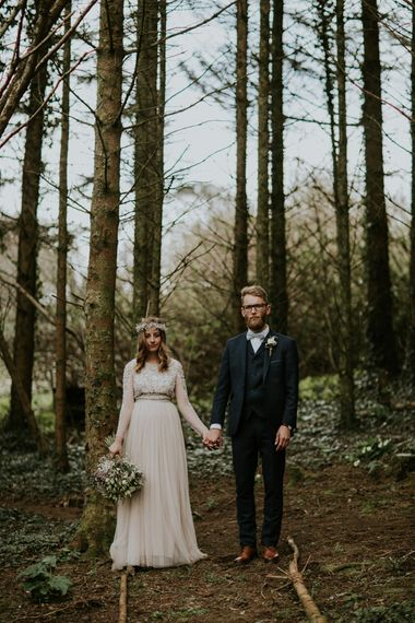 Woodland Wedding With A Botanical Greenhouse Reception // Image By Enchanted Brides Photography