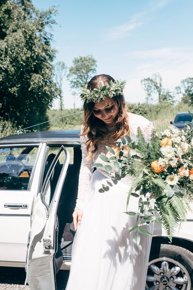 Foliage Wedding Bouquet // Image By Dale Weeks Photography