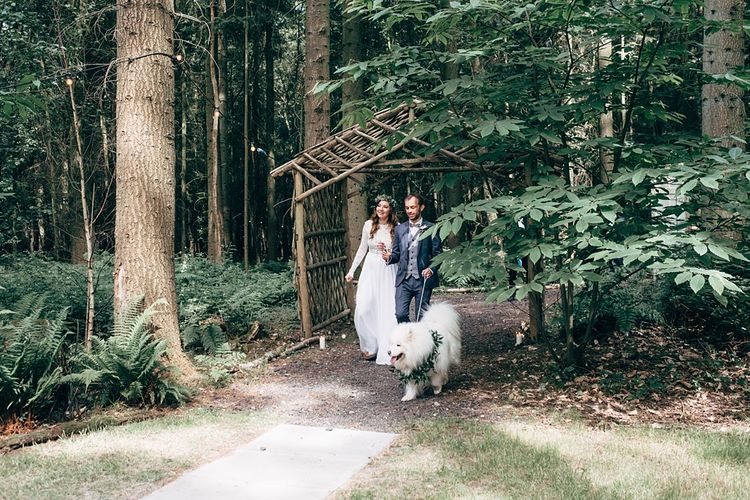 Woodland Wedding With Humanist Ceremony And Dog Ring Bearer // Images By Dale Weeks Photography