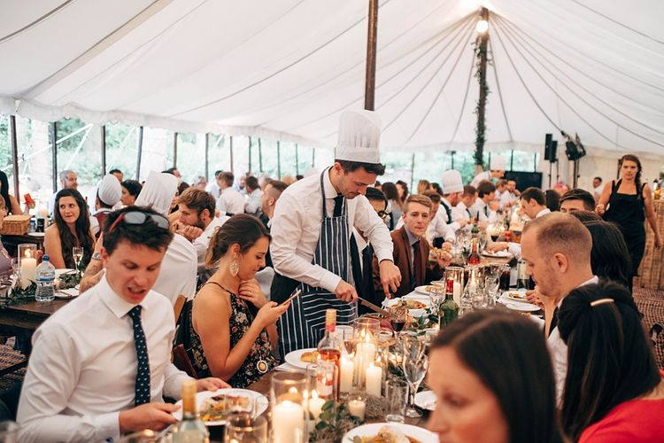 Roast Dinner Wedding Food // Images By Dale Weeks Photography