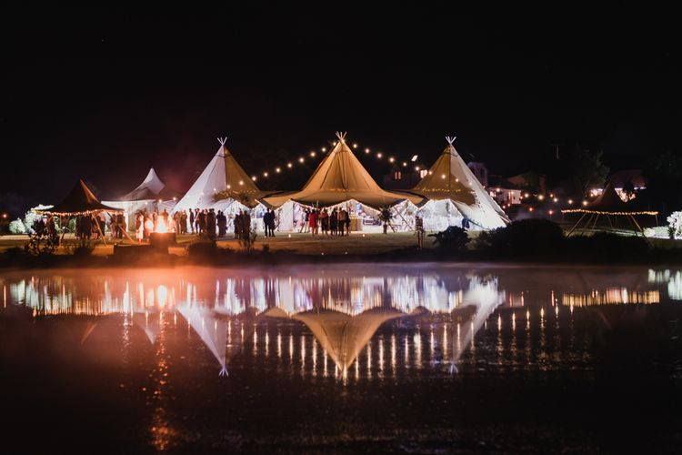 Lighting Ideas For Tipi Weddings // Image By Joshua  Gooding Photography