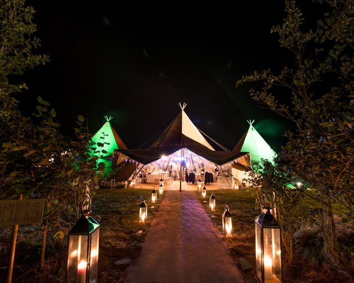 Lighting Ideas For Tipi Weddings // Image By Nick Reader Photography