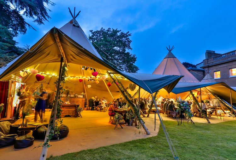 Summer Tipi Wedding With Open Sides // Image By Riviera Wedding Photography