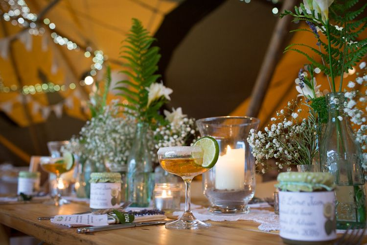 Tipi Wedding Decor // Image By Sarah Lauren Photography
