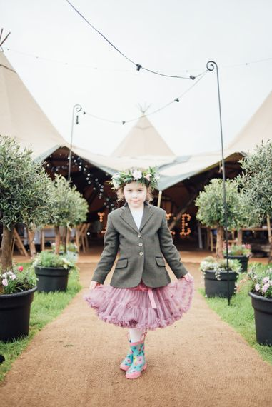 Flower Girls In Tweed Jackets // World Inspired Tents Tipi Hire For Weddings South West England & Wales Tipi Hire Rock My Wedding The List Tipi Hire Supplier