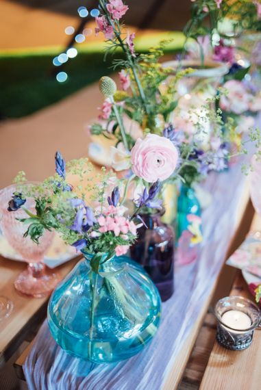 Pastel Spring Flowers For Tipi Wedding Decor // World Inspired Tents Tipi Hire For Weddings South West England & Wales Tipi Hire Rock My Wedding The List Tipi Hire Supplier