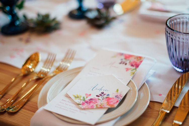 Floral Illustrated Stationery // World Inspired Tents Tipi Hire For Weddings South West England & Wales Tipi Hire Rock My Wedding The List Tipi Hire Supplier