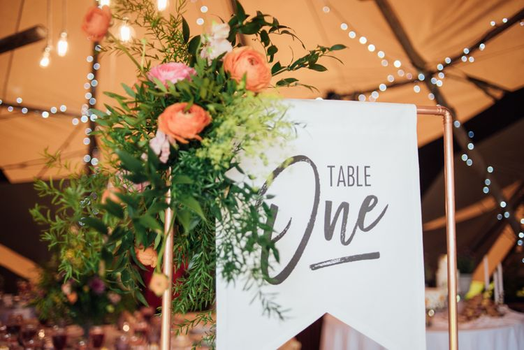 Flag Table Numbers For Wedding // World Inspired Tents Tipi Hire For Weddings South West England & Wales Tipi Hire Rock My Wedding The List Tipi Hire Supplier