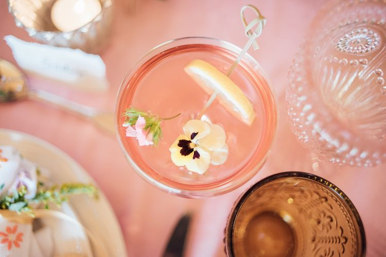 Edible Flower Cocktails For Wedding // World Inspired Tents Tipi Hire For Weddings South West England & Wales Tipi Hire Rock My Wedding The List Tipi Hire Supplier