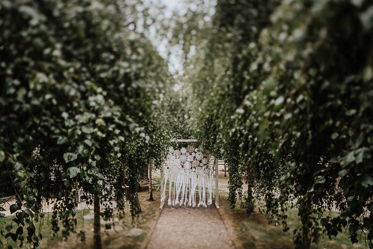 Dreamcatchers | Fairylight Tythe Barn Wedding with Dreamcatchers | New Forest Studio Photography
