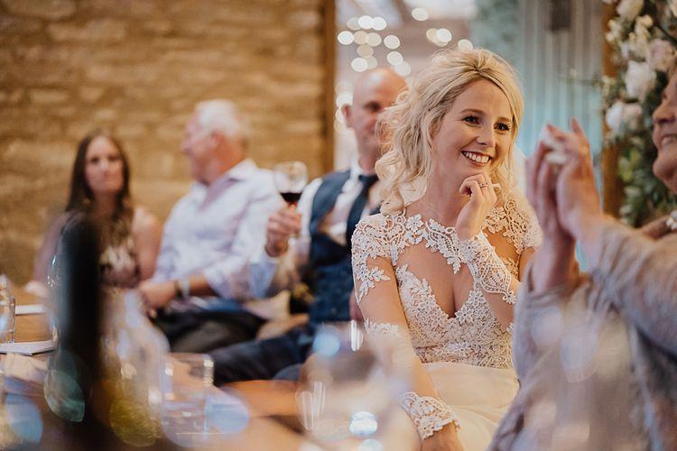 Wedding Reception | Fairylight Tythe Barn Wedding with Dreamcatchers | New Forest Studio Photography