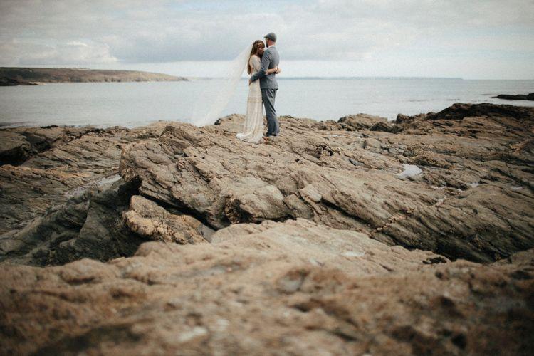 Coastal Wedding // Ben Selway Photography // Prussia Cove Cornwall