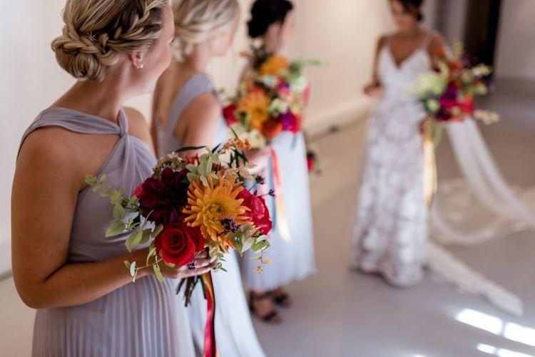 Colourful bridesmaid bouquet