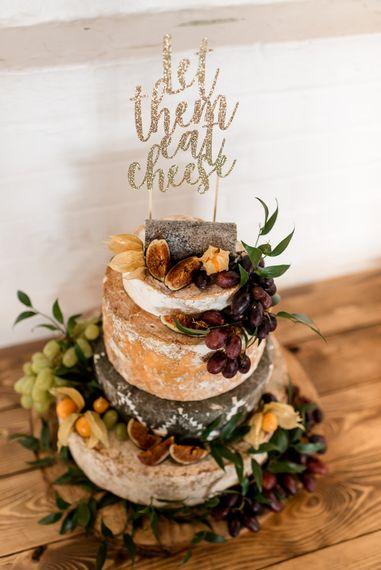 Cheese tower alternative wedding cake