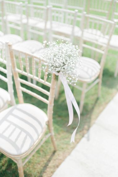 Gypsophila Chair Backs For Wedding