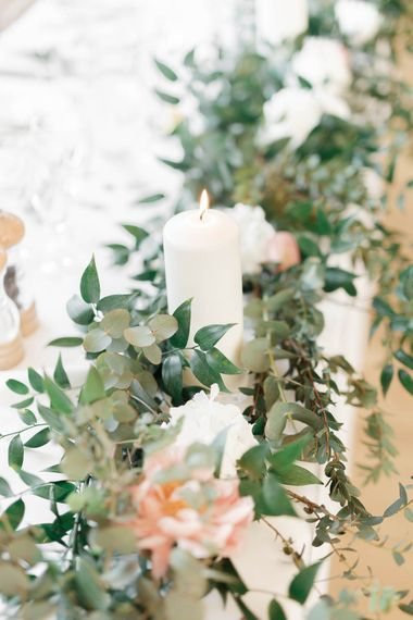 Foliage Runners For Wedding Table