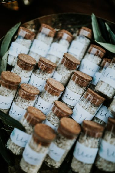 Confetti glass jars