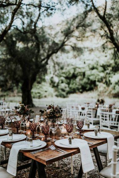 Olive grove wedding reception venue in Greece