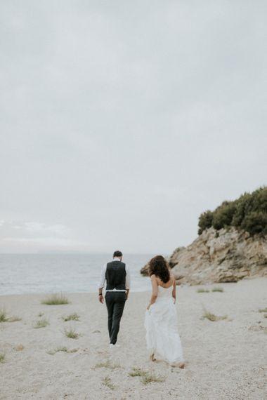Coastal wedding in Greece with Max Mara wedding dress