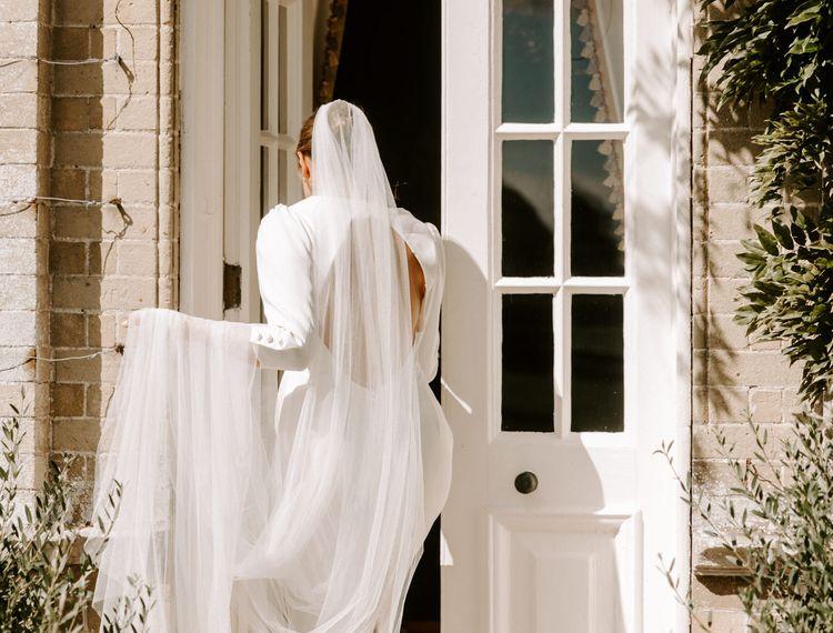 婚礼她的婚礼仪式上的裙子