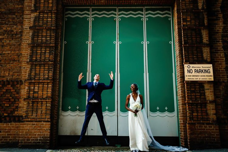 Bride and groom wedding portraits in Liverpool