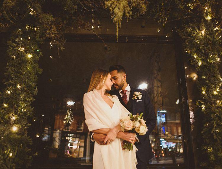 Chelsea London Winter Wedding - Bride and Groom photography