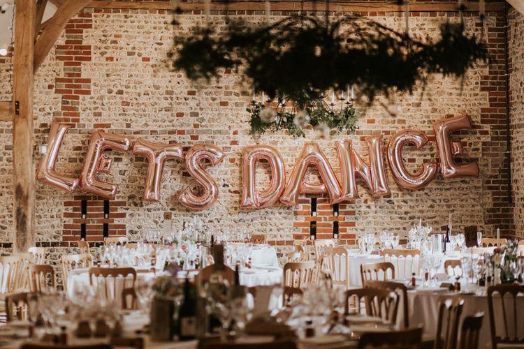 Foil 'Let's Dance' balloons