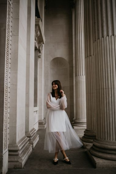 Stylish wedding dress for micro wedding