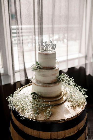 Semi-naked wedding cake