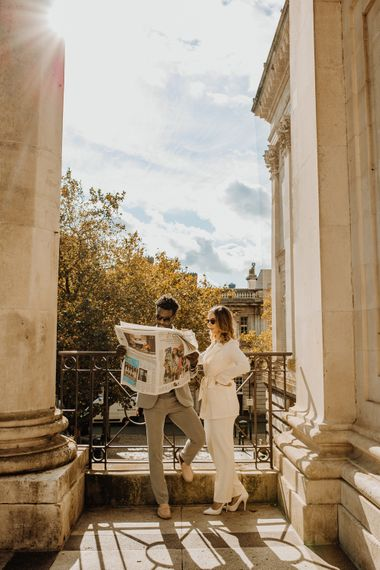 Portsmouth Guidhall city elopement portraits by Leah Marie Photography