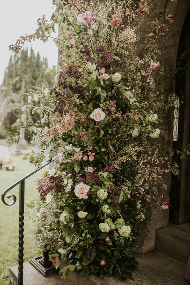 Pink and green spring wedding flowers