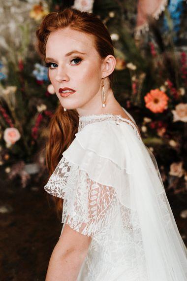 红发新娘天然婚妆