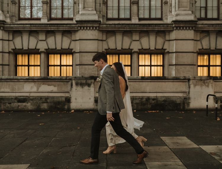 Urban bride and groom portraits by Alba Turnbull Photography