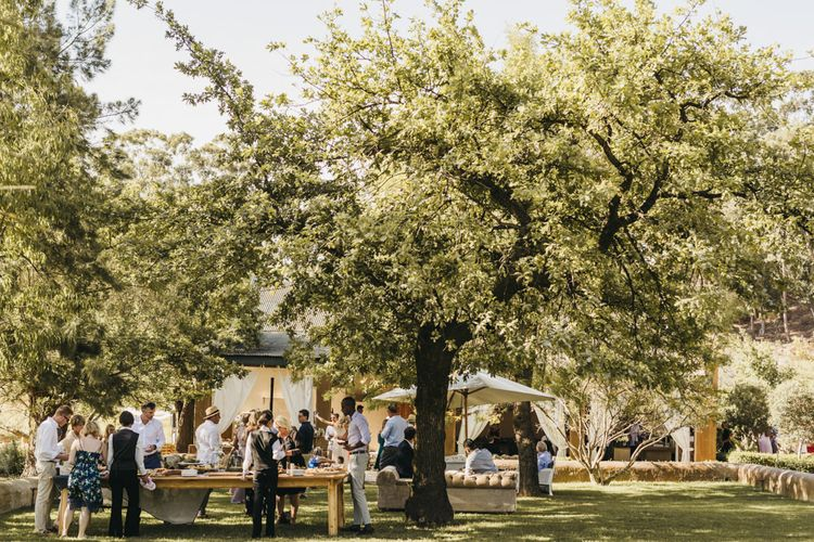 Outdoor wedding ceremony in South Africa