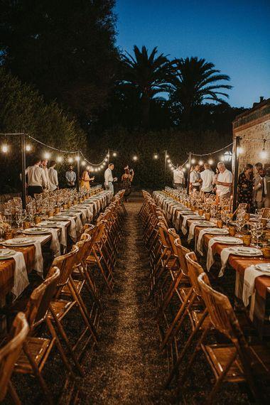Outdoor wedding reception planned by Open The Door Events