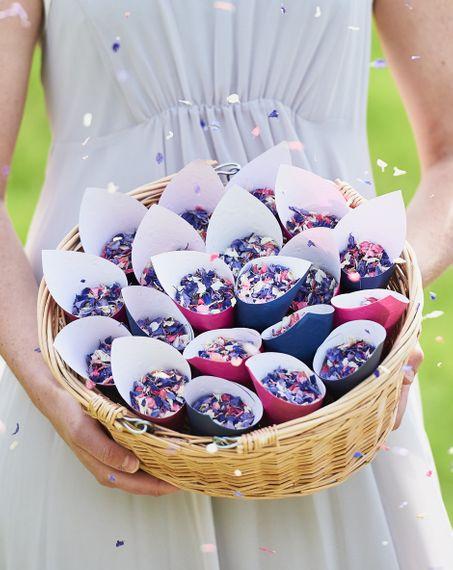 shropshire petals shropshire petals bopeep basket biodegradable petal confetti