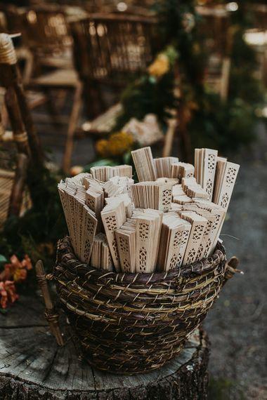 Wooden Fan wedding favours