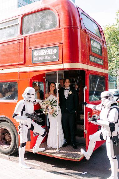 London Wedding bus Marylebone