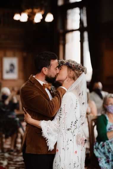 You may now kiss the bride wedding day moment at Chester Town Hall