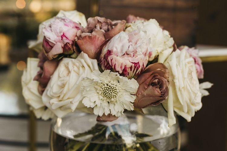 Beautiful blush wedding flowers
